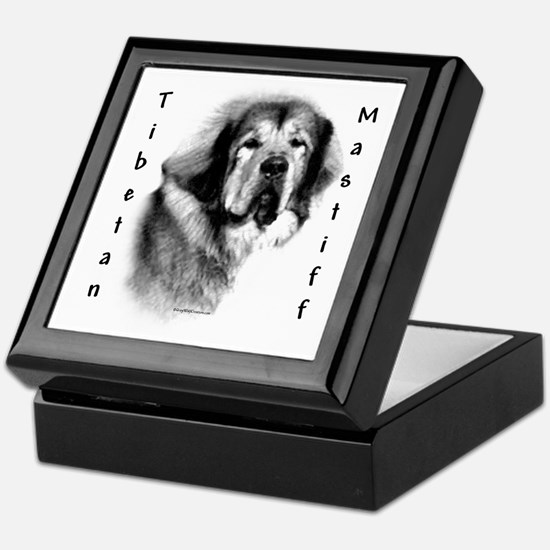 Tibetan Mastiff Charcoal Keepsake Box