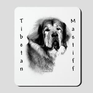 Tibetan Mastiff Charcoal Mousepad