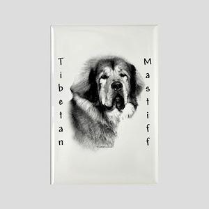 Tibetan Mastiff Charcoal Rectangle Magnet