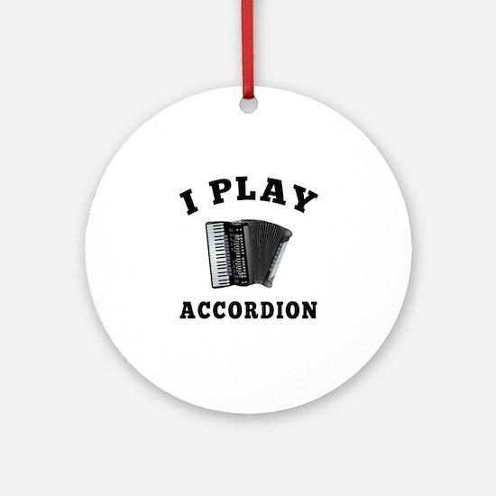 Accordion designs Ornament (Round)