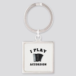 Accordion designs Square Keychain