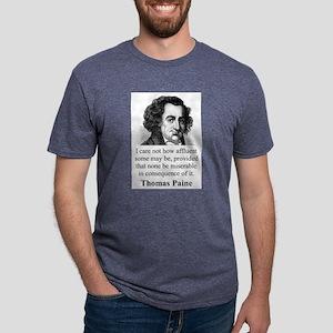 I Care Not How Affluent - Thomas Paine Mens Tri-bl
