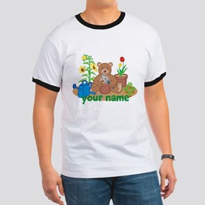 Personalized Gardening Bear T-Shirt