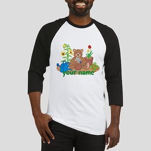 Personalized Gardening Bear Baseball Jersey