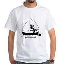 Kokopelli Sailor White T-Shirt