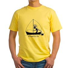 Kokopelli Sailor Yellow T-Shirt