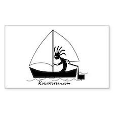 Kokopelli Sailor Rectangle Sticker