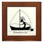 Kokopelli Sailor Framed Tile