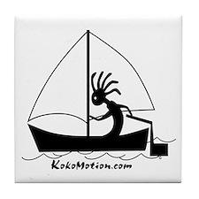 Kokopelli Sailor Tile Coaster
