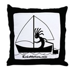 Kokopelli Sailor Throw Pillow