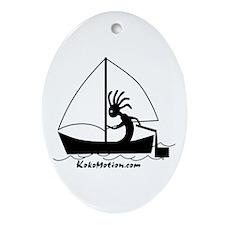 Kokopelli Sailor Oval Ornament