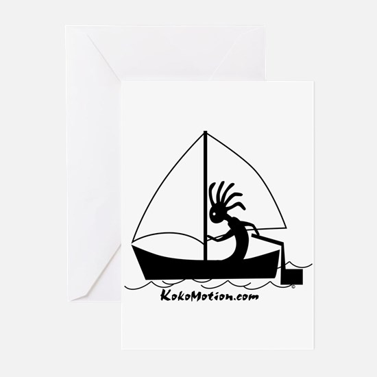Kokopelli Sailor Greeting Cards (Pk of 10)