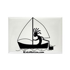 Kokopelli Sailor Rectangle Magnet (100 pack)