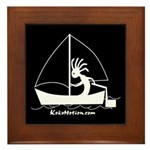 Kokopelli Sailor Framed Tile