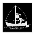 Kokopelli Sailor Tile Coaster