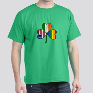 Gay Pride Shamrock Dark T-Shirt