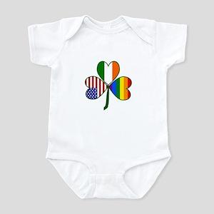 Gay Pride Shamrock Infant Bodysuit