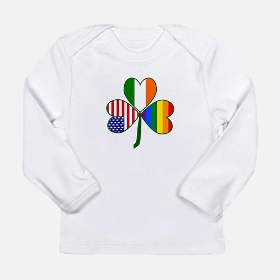Gay Pride Shamrock Long Sleeve Infant T-Shirt