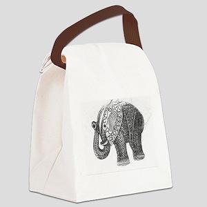 Jeweled Wedding Elephant Canvas Lunch Bag