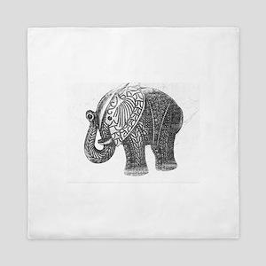 Jeweled Wedding Elephant Queen Duvet