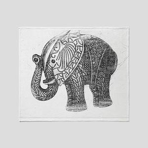 Jeweled Wedding Elephant Throw Blanket