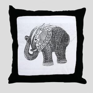 Jeweled Wedding Elephant Throw Pillow