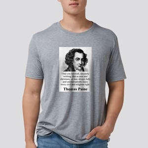 I Bid You Farewell - Thomas Paine Mens Tri-blend T