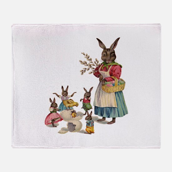 Vintage Easter Bunny with Spring Flowers Stadium