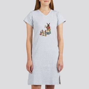 Vintage Easter Bunny with Spring Flowers Women's N