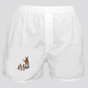 Vintage Easter Bunny with Spring Flowers Boxer Sho