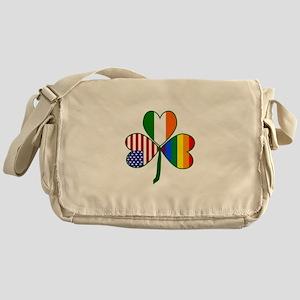 Gay Pride Shamrock Messenger Bag