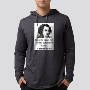 He Who Dares Not Offend - Thomas Paine Mens Hooded