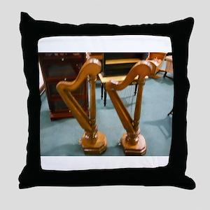 Doll House Harps Throw Pillow