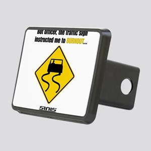Burnout Traffic Sign Hitch Cover
