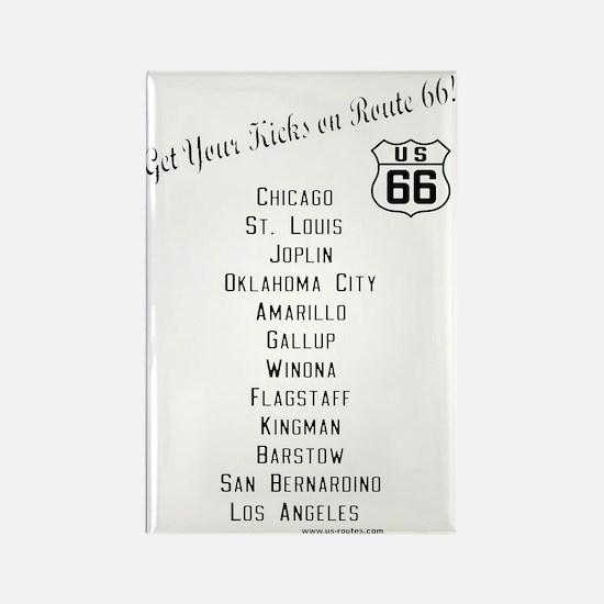 US 66 - Magnet Get Your Kicks Cities