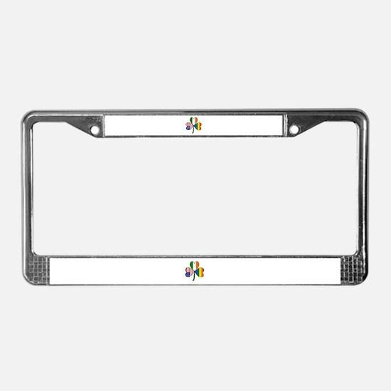 Gay Pride Shamrock License Plate Frame