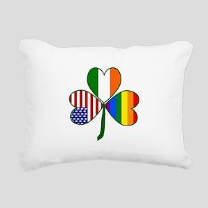 Gay Pride Shamrock Rectangular Canvas Pillow