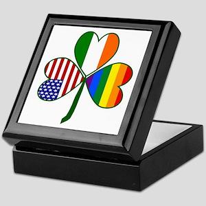 Gay Pride Shamrock Keepsake Box