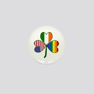 Gay Pride Shamrock Mini Button