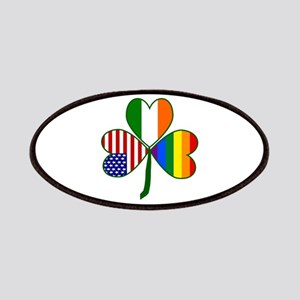Gay Pride Shamrock Patches