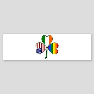 Gay Pride Shamrock Bumper Sticker