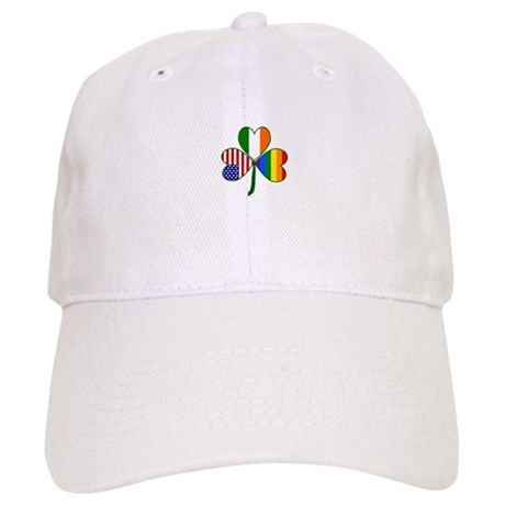 Gay Pride Shamrock Baseball Cap
