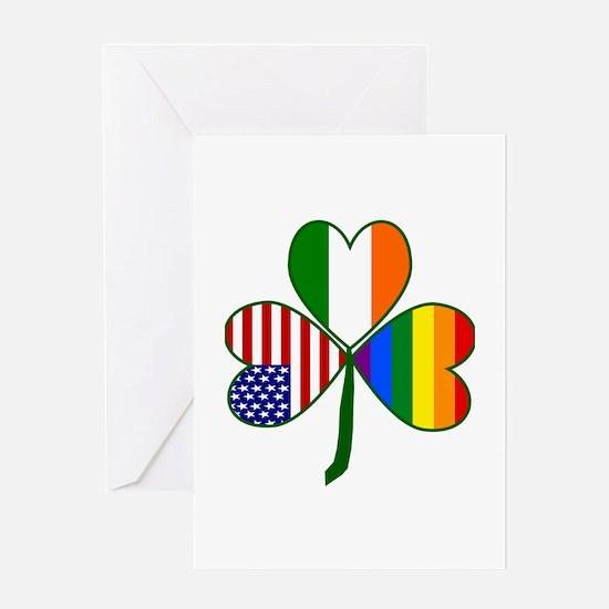 Gay Pride Shamrock Greeting Card