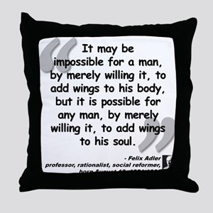 Adler Wings Quote Throw Pillow