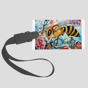Honeybee in the Blossoms Large Luggage Tag