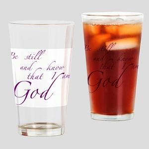 Be still Drinking Glass