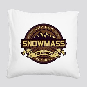 Snowmass Sepia Square Canvas Pillow