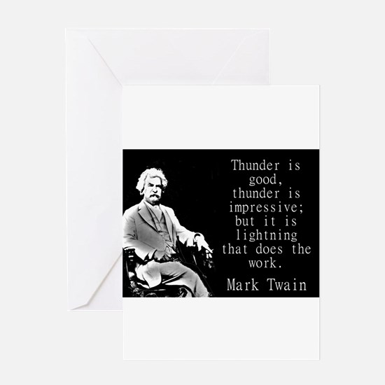Thunder Is Good - Twain Greeting Cards
