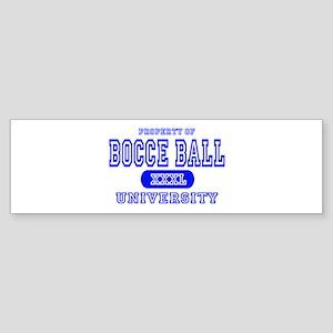 Bocce Ball University Bumper Sticker