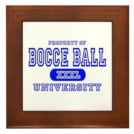 Bocce Ball University Framed Tile